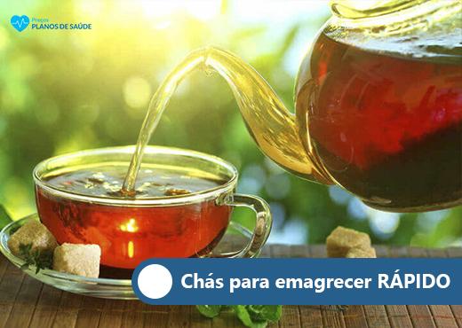 chá para emagrecer rápido